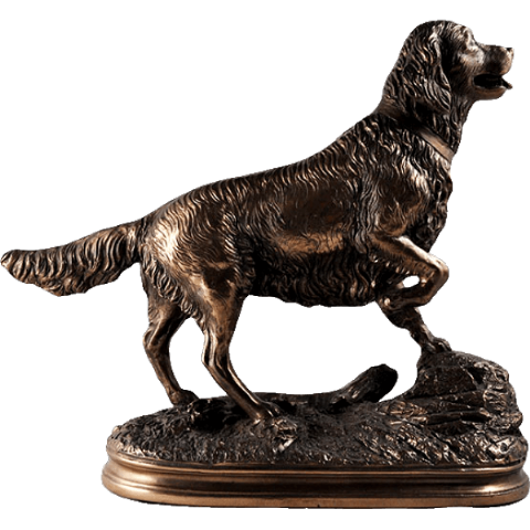 Retriever Cold Cast Bronze Sculpture